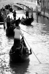 The Gondola - an essential part of Venice. I think this was the 'freeway' for the Gondola.