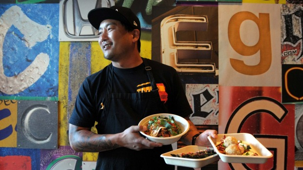 Roy Choi, chef and owner of Chego restaurant and the Kogi Korean taco trucks in Los Angeles, is passionate about ...