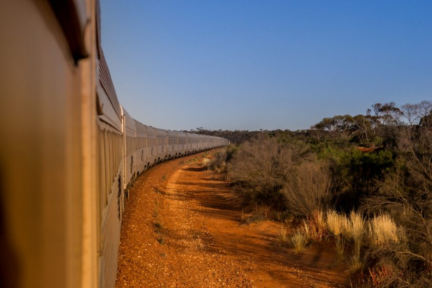 The Indian Pacific on its 4352 kilometre journey between Sydney and Perth.