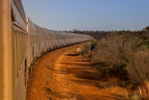 The Indian Pacific on its 4,352 kilometres journey between Sydhey and Perth.  Photo: supplied