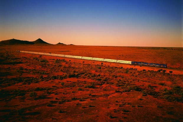 The Indian Pacific on its epic journey between Australia's eastern and western seaboards.