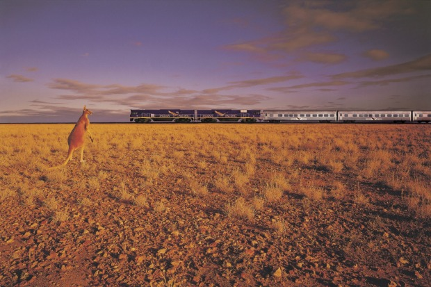 The Indian Pacific makes its way between Australia's eastern and western seaboards on its 4352 kilometre journey.