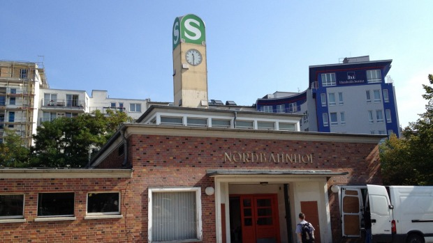 "Nordbahnhof S-Bahn station is a former Cold War ""ghost station""."
