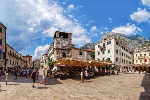 The Square of Arms in the old town of Kotor.