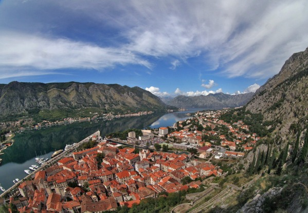 An overview of the Bay of Kotor.