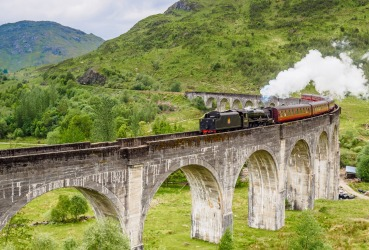 Dateline Scotland: The Jacobite Express ( made famous by the film Harry Potter) crosses the equally famous Glenfinnan ...