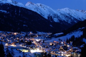 Moonlight over St Anton.