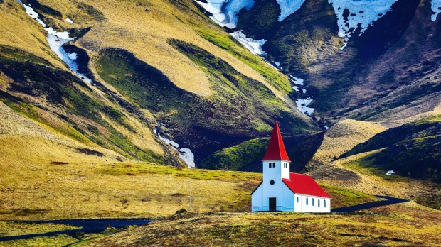 Icelandic church in Vik, South Iceland.