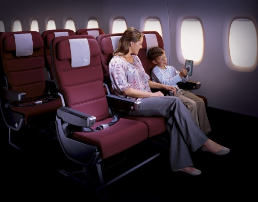 Qantas A380 economy seating