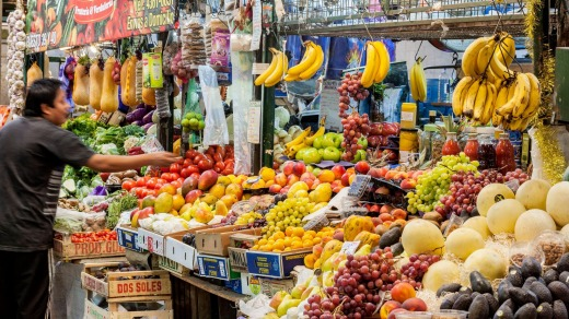 A fruit store in one of Buenos Aires' markets.