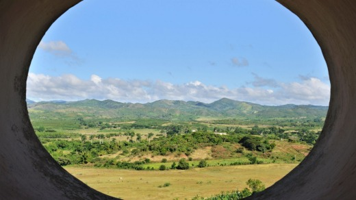 View from the slave watch tower, Manaca Iznaga plantation, Sugar Mills Valley near Trinidad.
