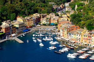 The harbour at Portofino, Italy.