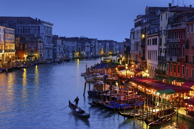 Grand Canal of Venice at the Blue Hour.