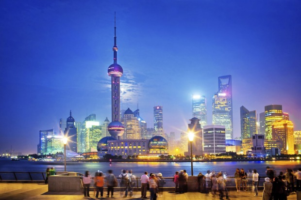 The Bund, Shanghai, China: The Bund is lined with 1920s art deco and neoclassical buildings. In contrast, futuristic ...