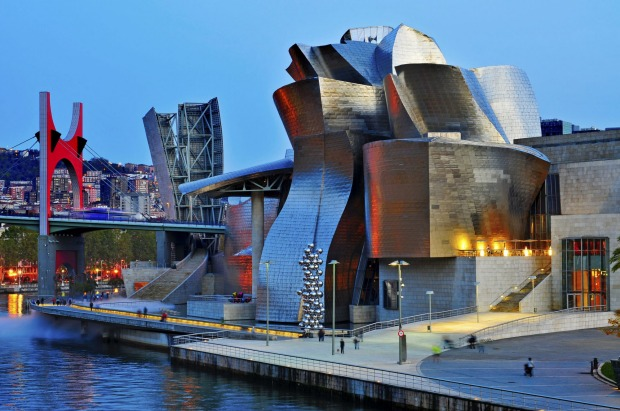 One of the best waterfront buildings: The Guggenheim Museum, Bilbao, Spain. One of the world's most fabulous and ...