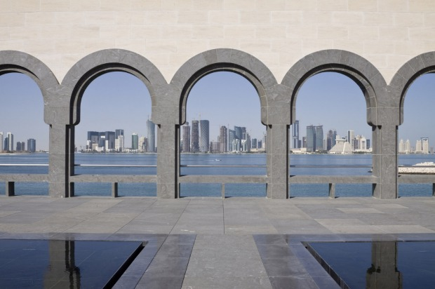 One of the best waterfront buildings: Museum of Islamic Art, Doha, Qatar. Looming on its own island off the Qatari ...