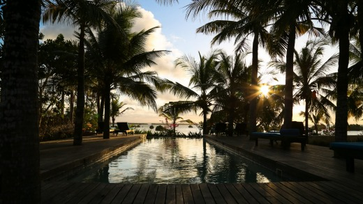 One of three swimming pools at Ibo Island Lodge, Mozambique.