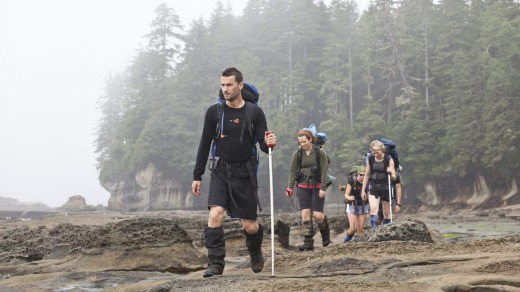 Hikers near Owen Point on the West Coast Trail.
