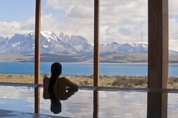 Pool with a view. Tierra Patagonia.