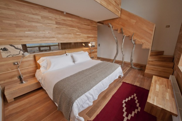 One of the Tierra's three suites - split level spaces covering 51 square meters, with one enormous floor-to-ceiling ...