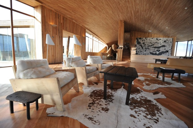 Tierra Patagonia's lounge area.