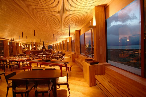 Tierra Patagonia's restaurant. Meals are included in the room rate.