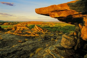 Ubirr Rock in Kakadu National Park, World Heritage Area.