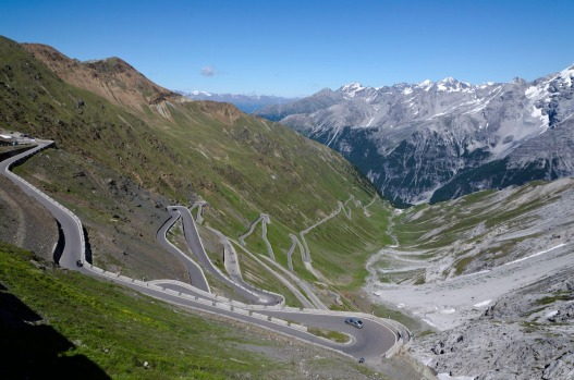 STELVIO PASS, ITALY: Not for the faint-hearted, this legendary piece of road straddling the Swiss/Italian border with ...