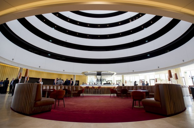 The Vibe Hotel Canberra Airport's design was inspired by Walter Burley Griffin's geometric plans.