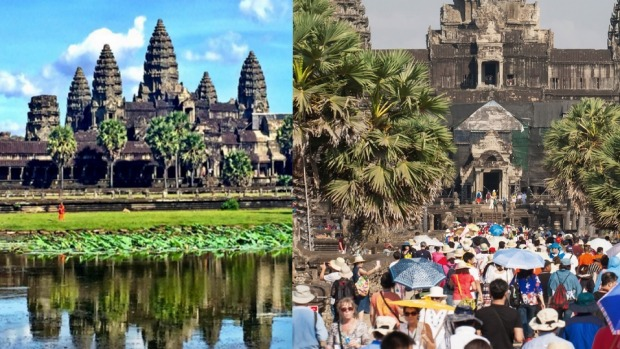 When visiting a major tourist destination, the reality can be quite different to those tranquil shots on Instagram.