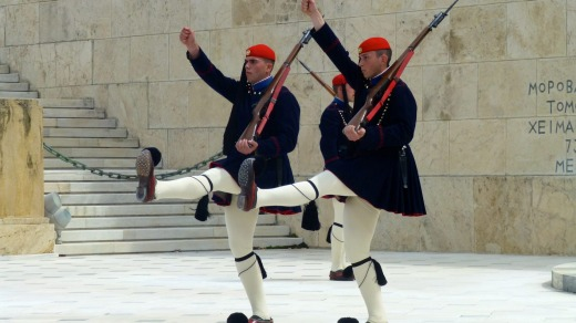 Changing of the Guards at National Parliament.