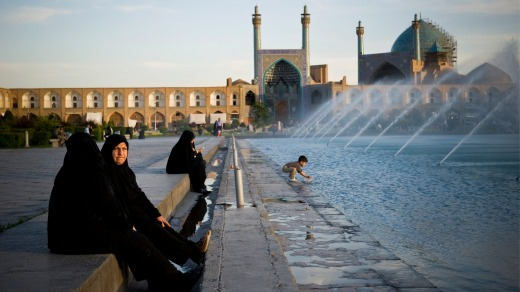 Imam Square, dominated by Jameh Mosque, in the Iranian city of Isfahan, is a World Heritage site.