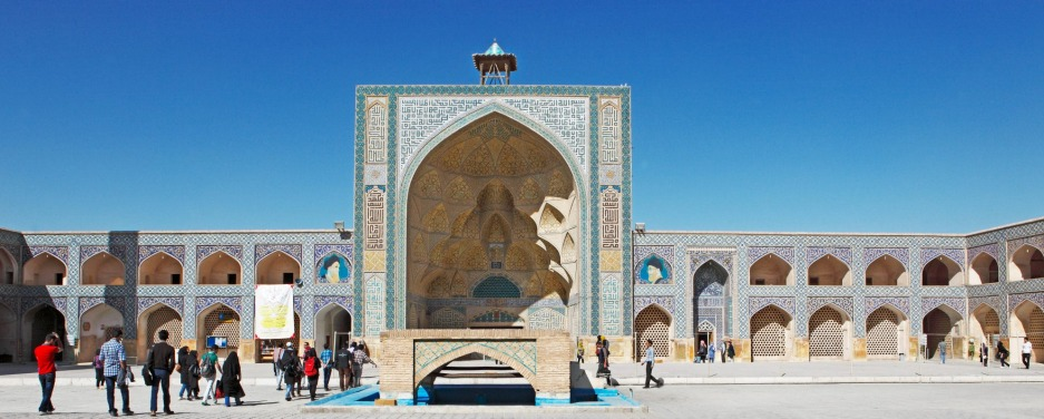 Students' portal of the Friday Mosque, Unesco World Heritage Site, Isfahan, Isfahan Province.