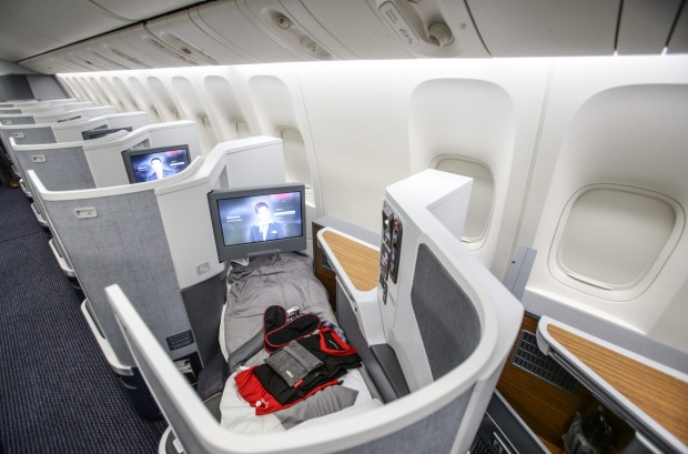 American Airlines Business Class on the B777-300ER aircraft.