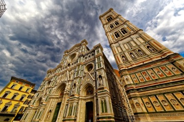 A storm approaching the Duomo in Florence, Italy. Grabbed the shot before a short downpour soaking the many tourists in ...