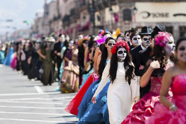 DAY OF THE DEAD, MEXICO: An intriguing amalgamation of Spanish Catholic tradition and Aztec ritual, this festival, held ...