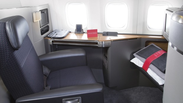 First class on board American Airlines' Boeing 777.