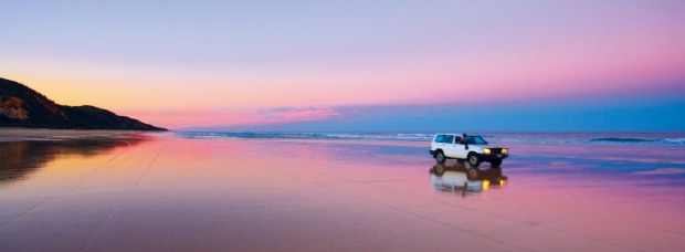Fraser Island, QLD: The world's largest sand island is best known for its dingos and 4WD down the beach experiences.