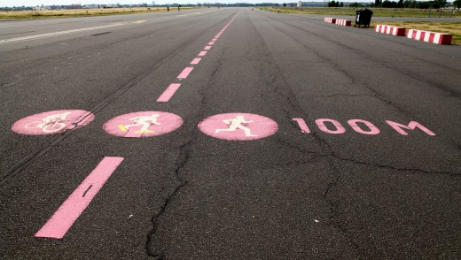 Tempelhof Airport is now a jogging and bike track.