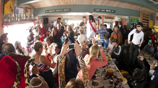 Cloud Nine on Highlands Mountain offers Aspen's most entertaining lunch.
