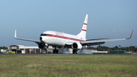 Qantas Retro Roo II features a vintage 1960s paint job.