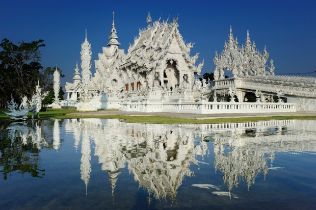 "Wat Rong Khun, Thailand: Like Sagrada Familia, this is one for those who think they're all ""templed out"" after having ..."