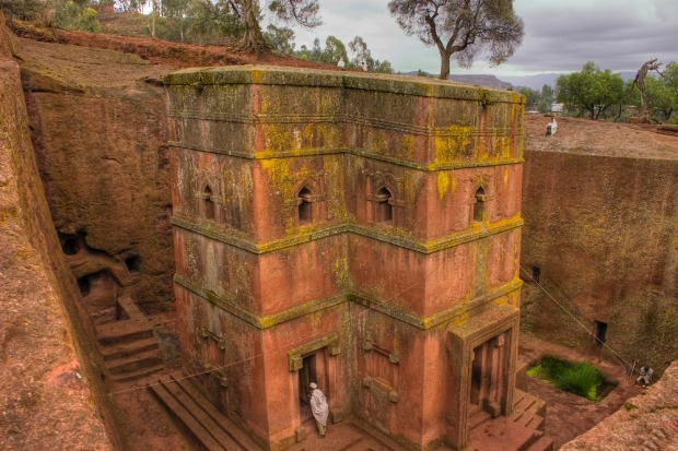 Rock-hewn churches of Lalibela, Ethiopia: These don't get the same recognition as similar edifices carved from stone in ...