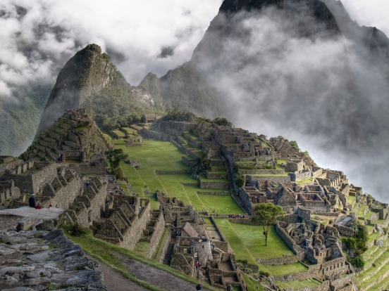 Macchu Piccu, Peru: Machu Picchu would be memorable if it was just sitting on a plain somewhere at sea level. But the ...