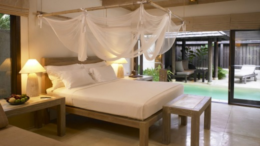 The resort's beautiful rooms make it easy to switch off.