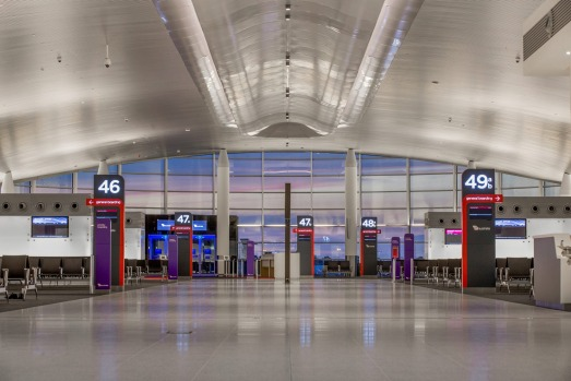 Virgin Australia's new T1 domestic terminal at Perth Airport.  Photo: supplied