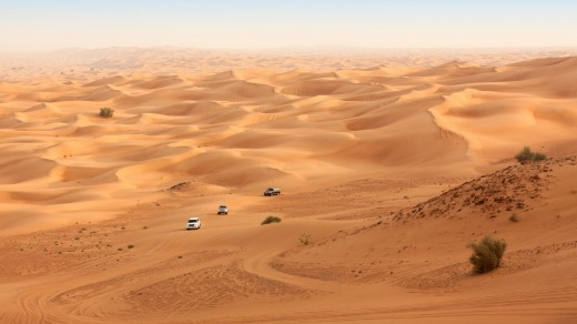 The Dubai desert offers a different Christmas experience.