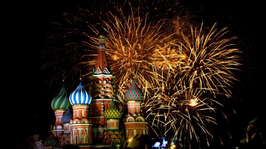 Celebrations in Moscow.