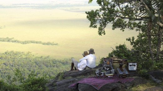 Angama Mara is a new safari lodge balanced on the rim of Africa's Great Rift Valley.