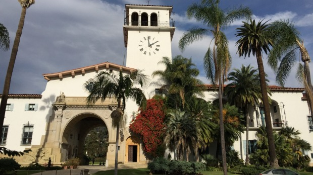 The grand Santa Barbara County Courthouse was built in 1929.